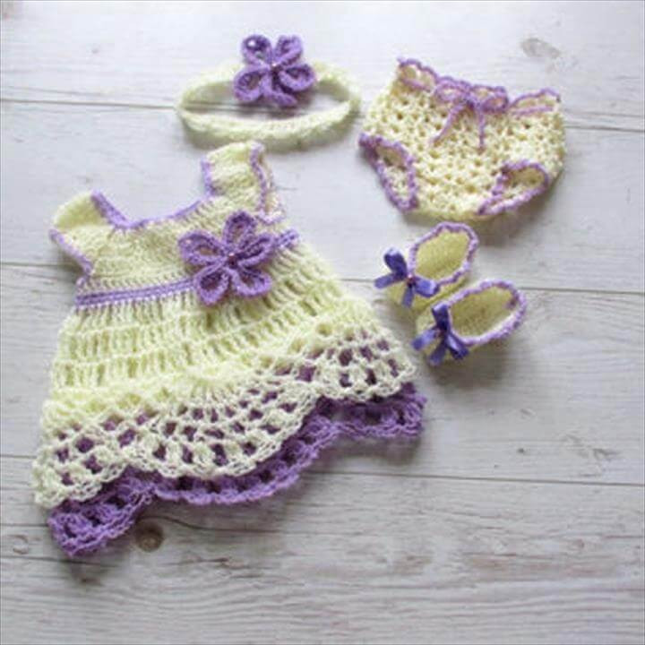 Crochet Baby Girl Outfits Inspirational 26 Gorgeous Crochet Baby Dress for Babies Of Perfect 41 Pictures Crochet Baby Girl Outfits