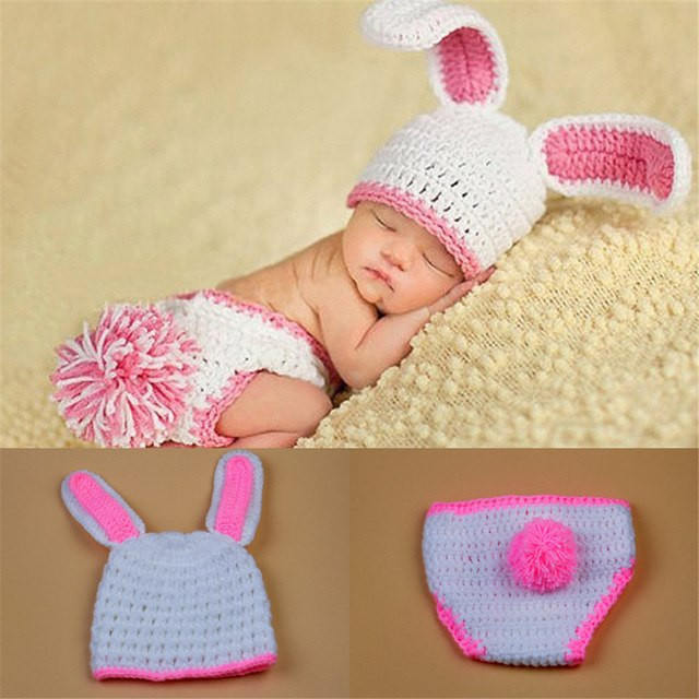 Latest White Rabbit Baby Girl graphy Outfits Crochet