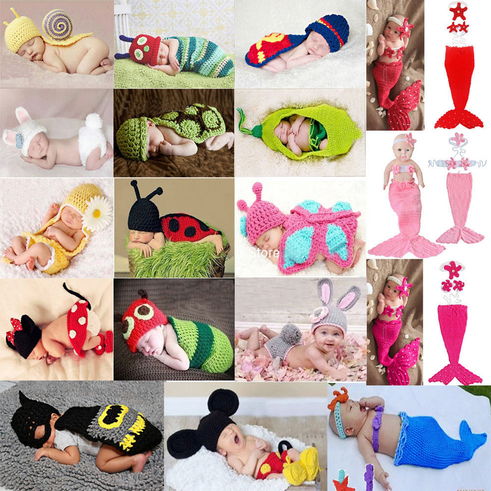 Crochet Baby Outfits Awesome Baby Girls Boy Newborn 9m Knit Crochet Mermaid Mickey Of Marvelous 44 Photos Crochet Baby Outfits