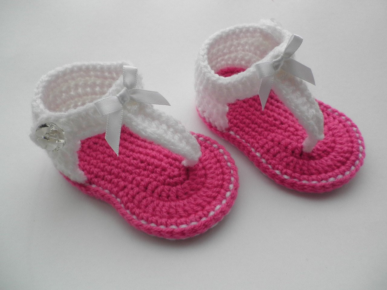Crochet baby sandals baby gladiator sandals baby by