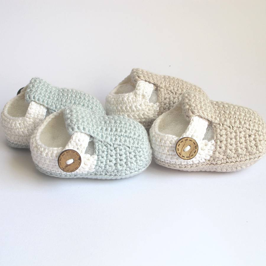 Crochet Baby Sandals Luxury Hand Crochet T Bar Baby Shoes by attic Of New 46 Models Crochet Baby Sandals