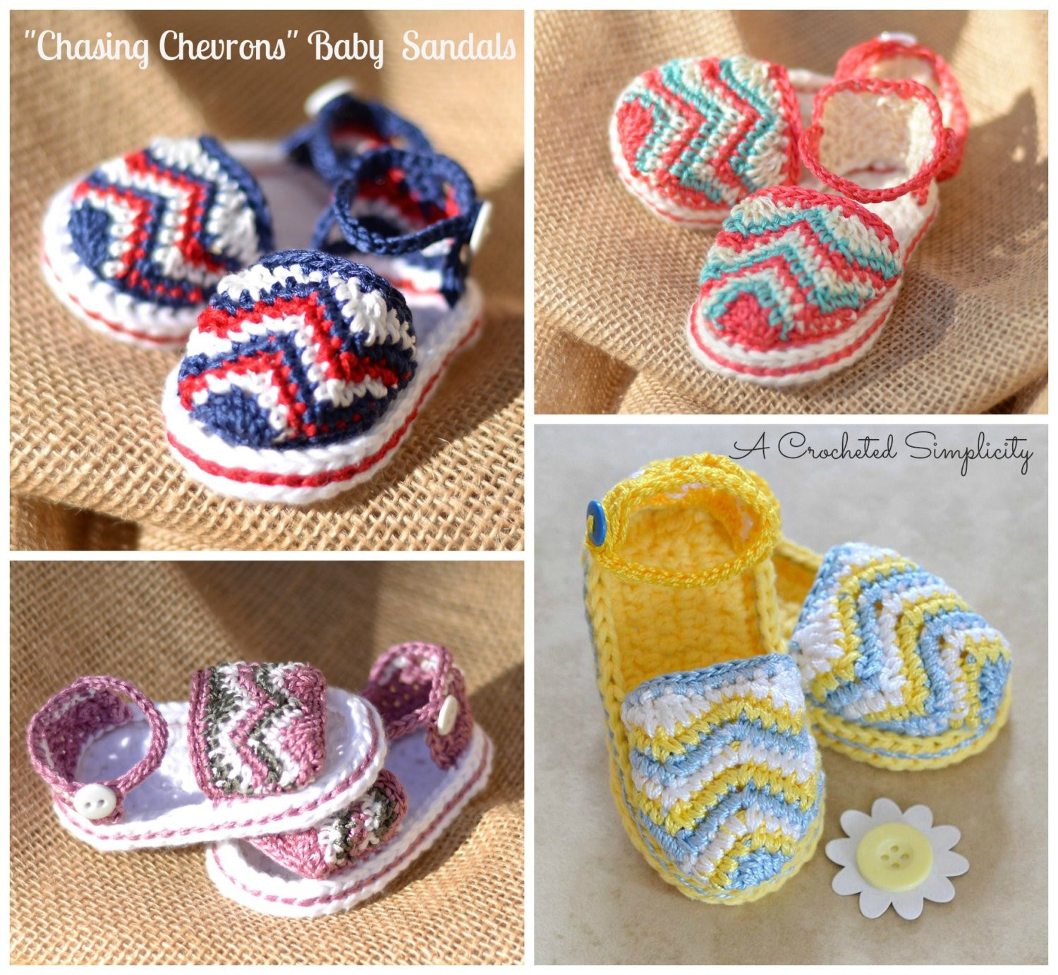 Crochet Baby Sandals New Crochet Pattern Chasing Chevrons Baby Sandals Of New 46 Models Crochet Baby Sandals