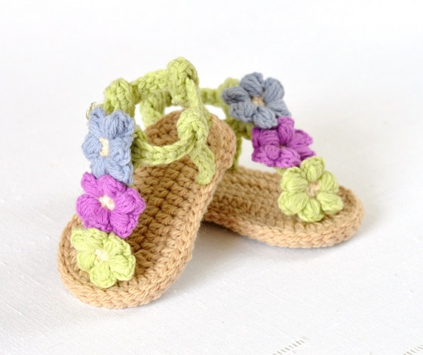 Crochet Baby Sandals Pattern Lovely Puff Flower Baby Sandals Crochet Pattern Of Perfect 43 Photos Crochet Baby Sandals Pattern