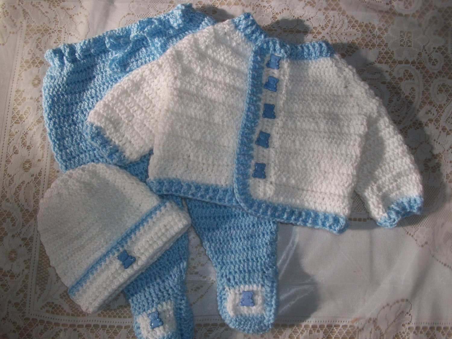 Crochet Baby Set Awesome Crochet Baby Boy Sweater Set Layette with Leggings Perfect for Of Charming 49 Pics Crochet Baby Set