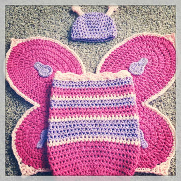 Crochet Baby Set Best Of Baby Girl Crochet butterfly Wings Cocoon and Hat Set Of Charming 49 Pics Crochet Baby Set