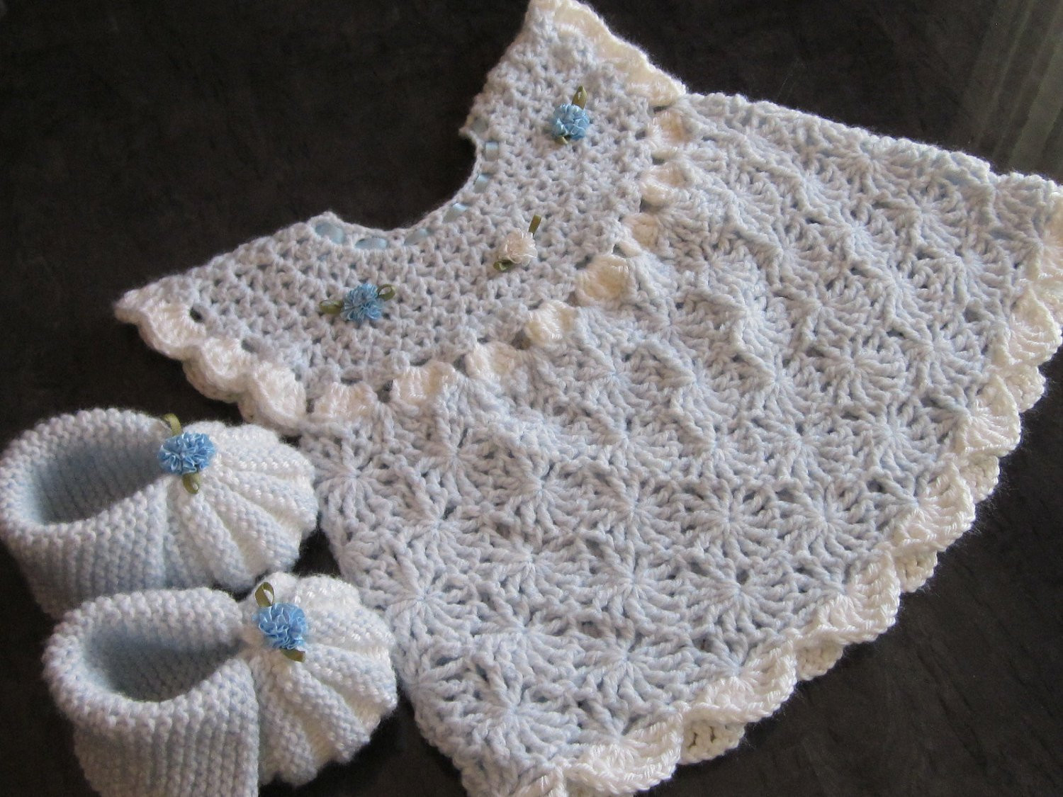 Crochet Baby Set Inspirational Handmade Baby Crochet Dress and Booties Set 0 6 by Of Charming 49 Pics Crochet Baby Set