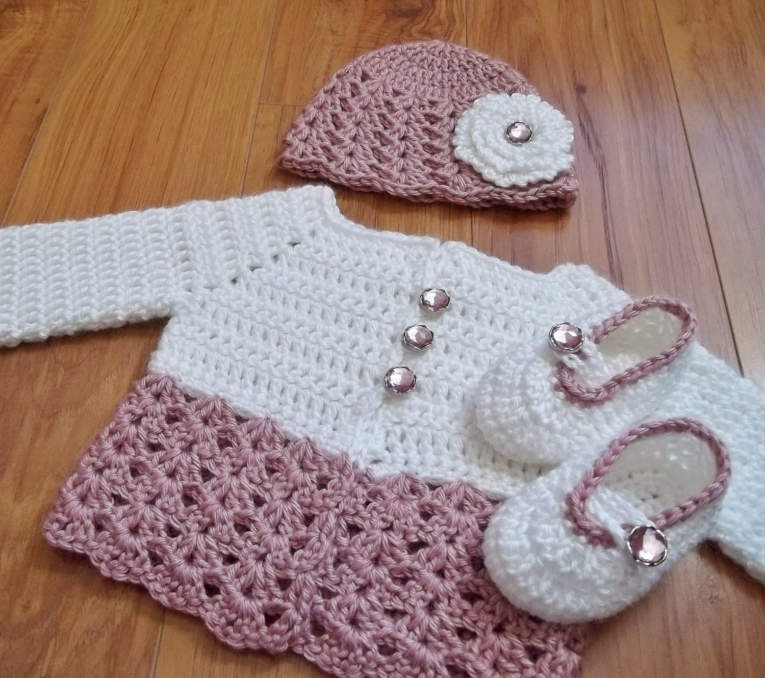 button me up baby set crochet patterns