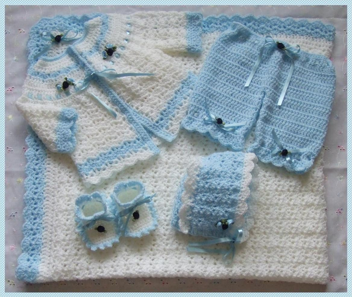 Crochet Baby Set Unique Baby Crocheted Free Layette Pattern Of Charming 49 Pics Crochet Baby Set