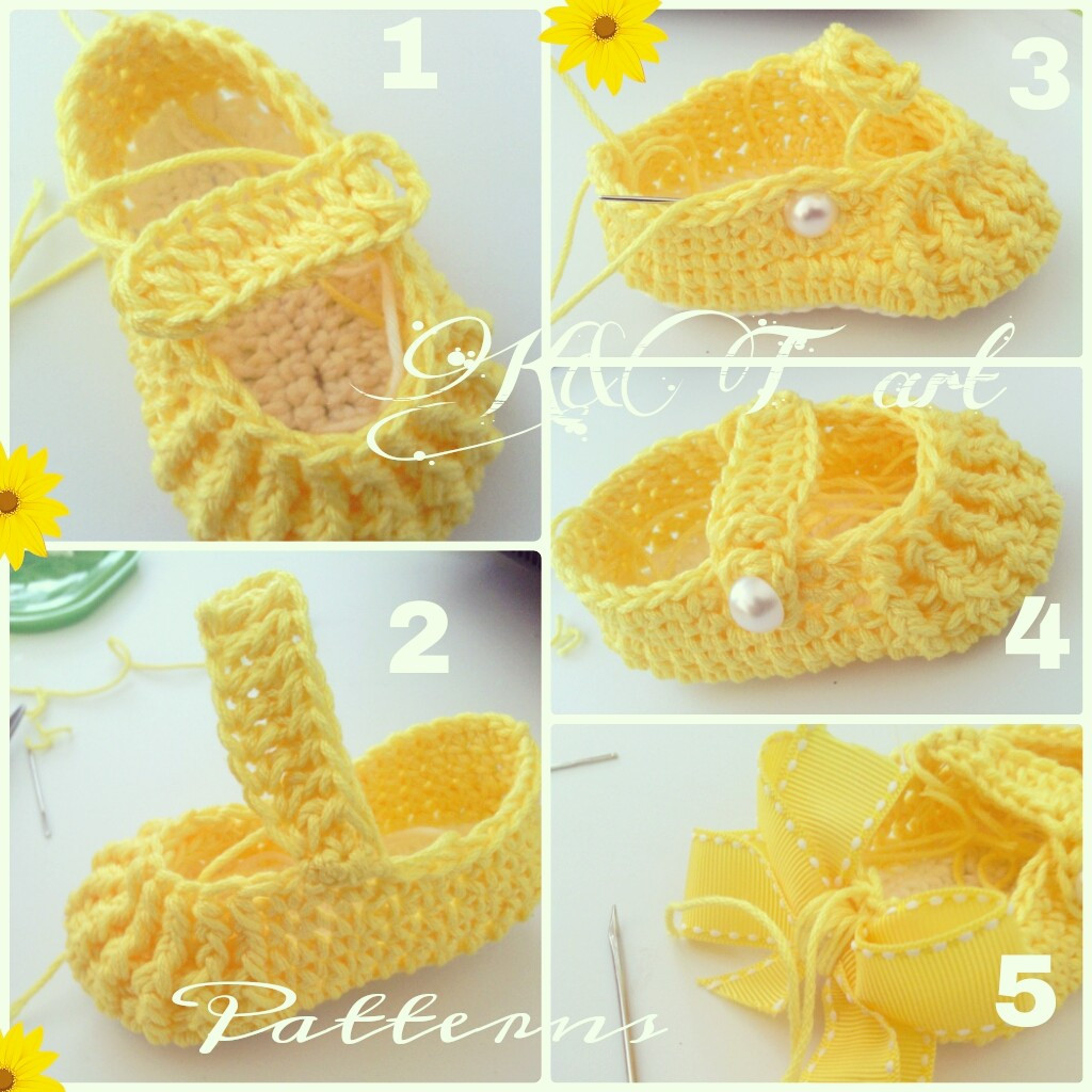"""The difference is in the details"" Crochet baby shoes pattern"