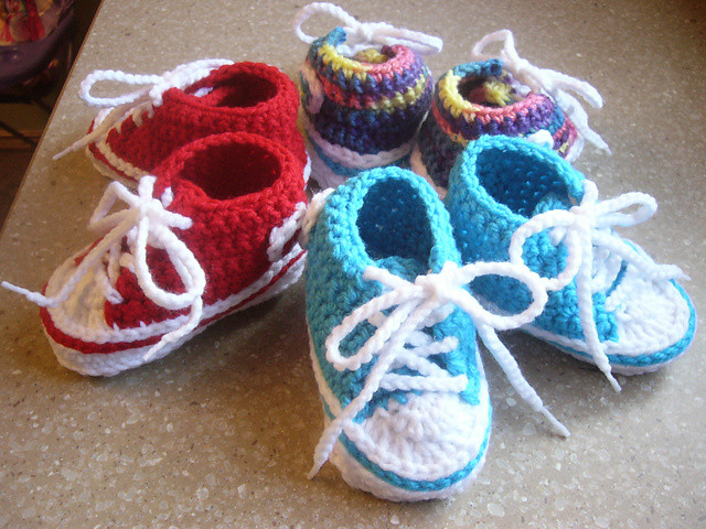 Crochet Baby Shoes Inspirational Patron Converse Crochet Imagui Of Delightful 42 Models Crochet Baby Shoes