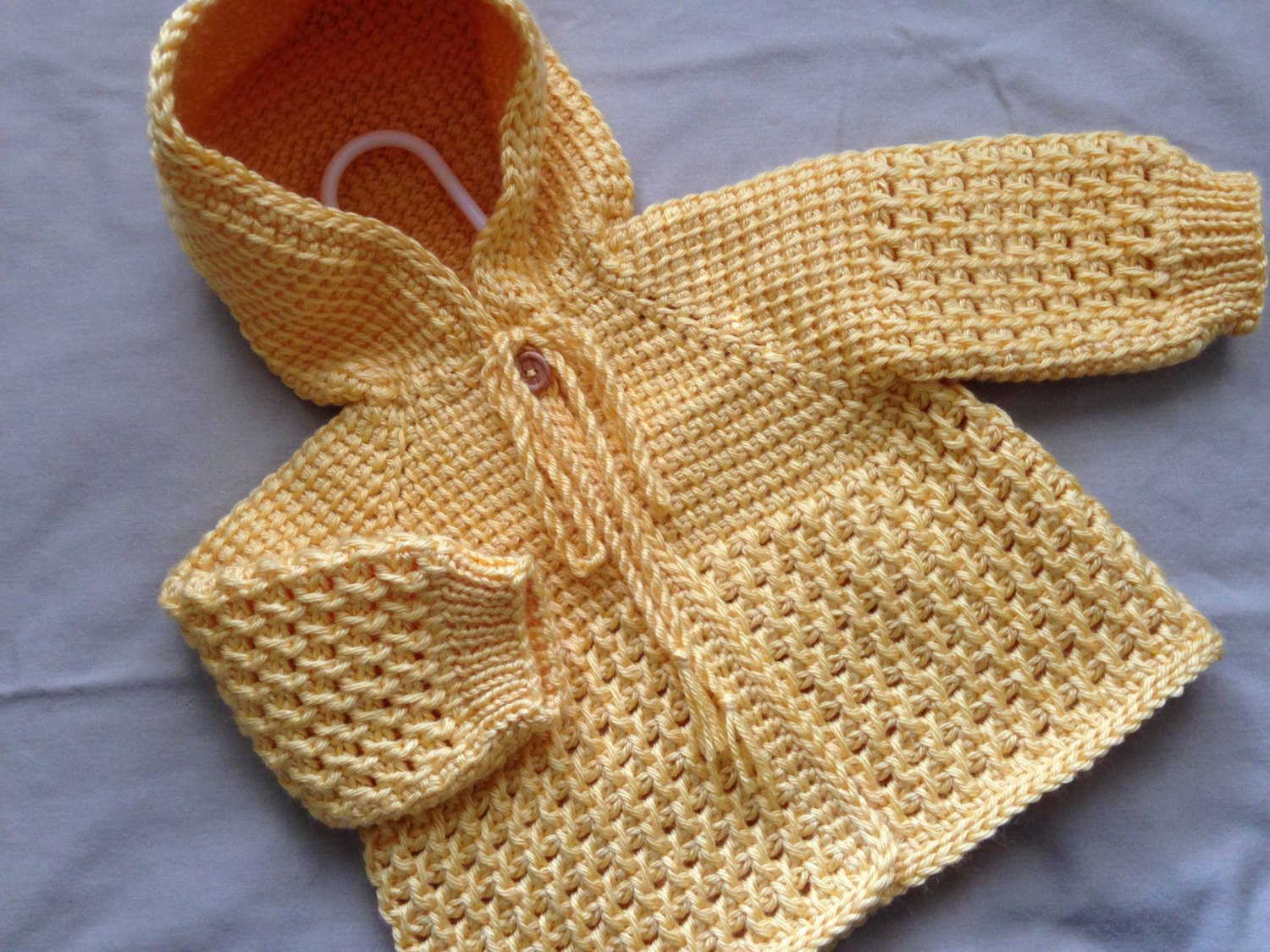 Crochet Baby Sweater Fresh Yellow Crochet Baby Sweater with Hood Tunisian Crochet Of Charming 44 Images Crochet Baby Sweater