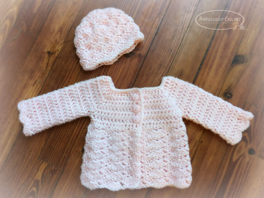 Crochet Baby Sweater Inspirational Shells Baby Sweater Crochet Pattern Ambassador Crochet Of Charming 44 Images Crochet Baby Sweater