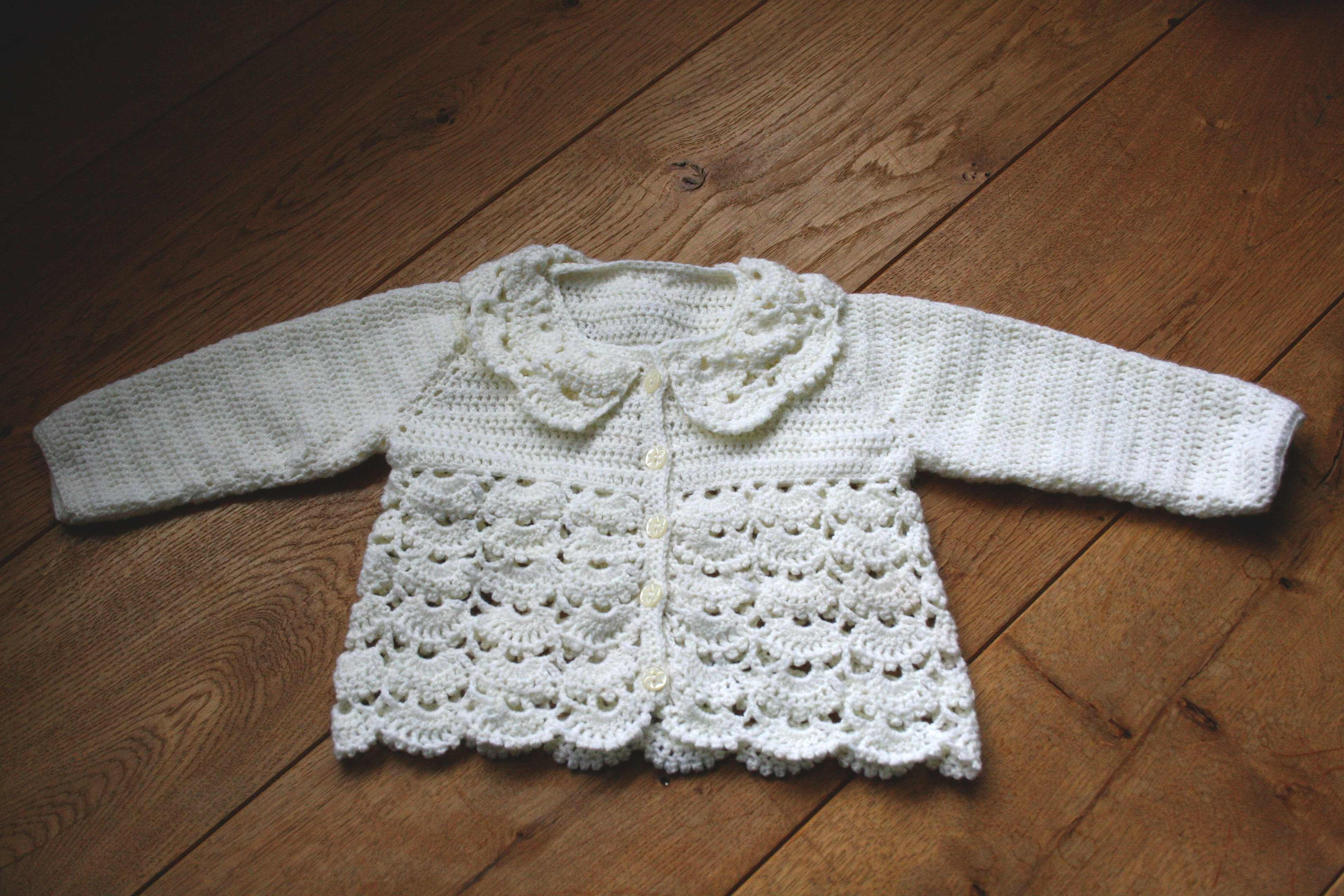 Crochet Baby Sweater Lovely Crocheted Lacy Baby Cardigan Of Charming 44 Images Crochet Baby Sweater