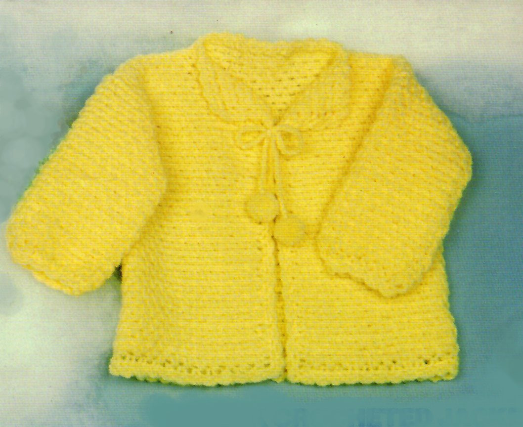 Baby Crochet Pattern QUICK Crochet Baby Sweater Pattern