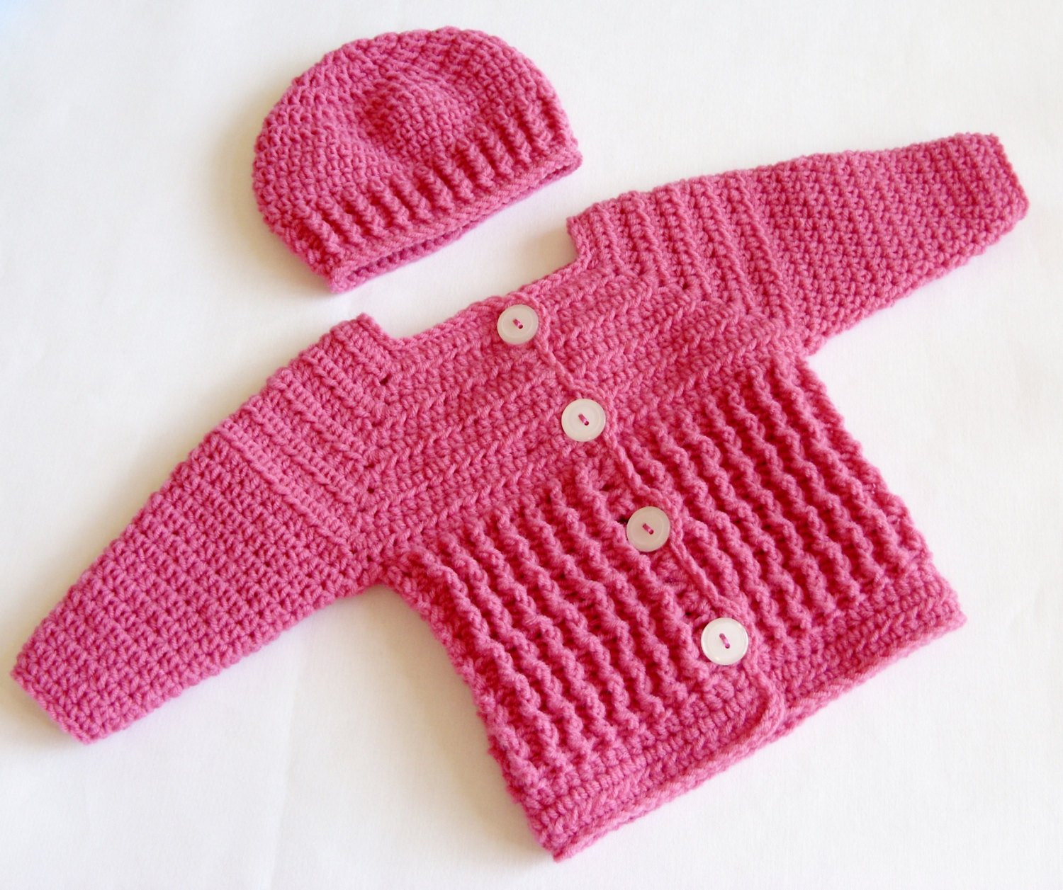 Baby Girl Sweater Set Crochet PATTERN Crochet Baby Sweater