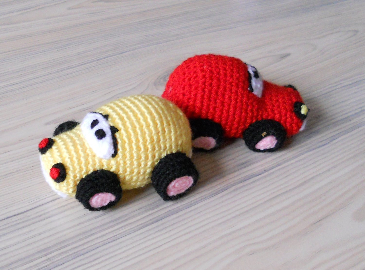 Crochet Baby toys Awesome 2 Crochet Car Baby toys Red Car Yellow Car Baby toys Of Great 46 Photos Crochet Baby toys