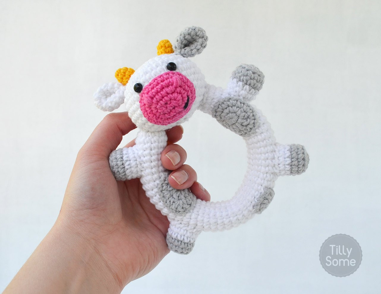 Crochet Baby toys Awesome Happy Cow Rattle Pattern Crochet Rattle toy Baby Rattle Of Great 46 Photos Crochet Baby toys