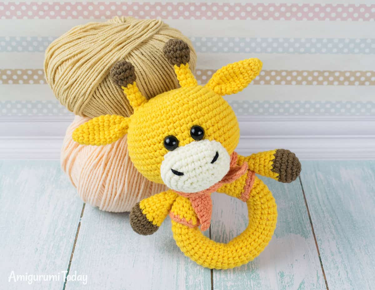 Crochet Baby toys Lovely Giraffe Baby Rattle Crochet Pattern Amigurumi today Of Great 46 Photos Crochet Baby toys