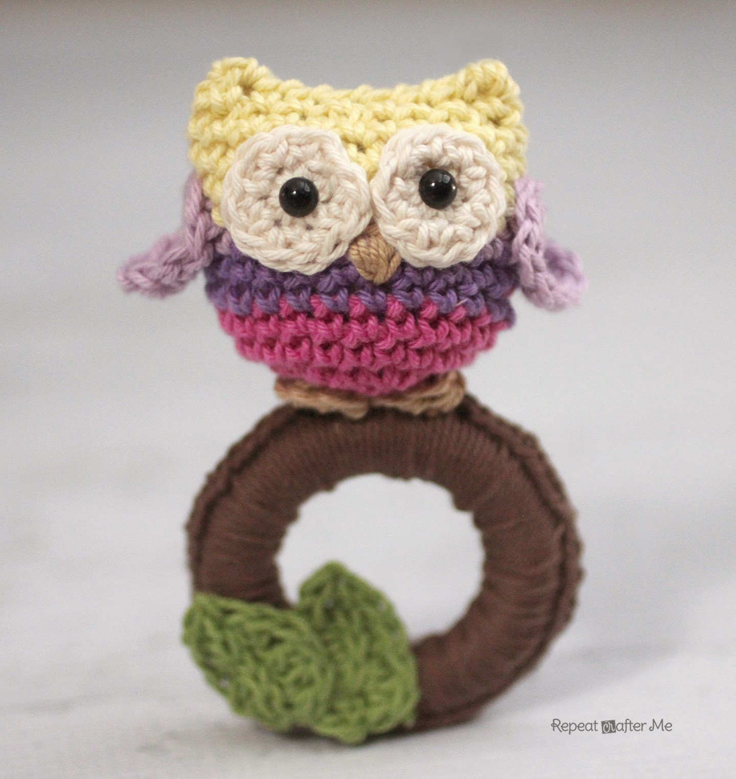 Crochet Baby toys Lovely Repeat Crafter Me Crochet Owl Ring Baby toy Of Great 46 Photos Crochet Baby toys