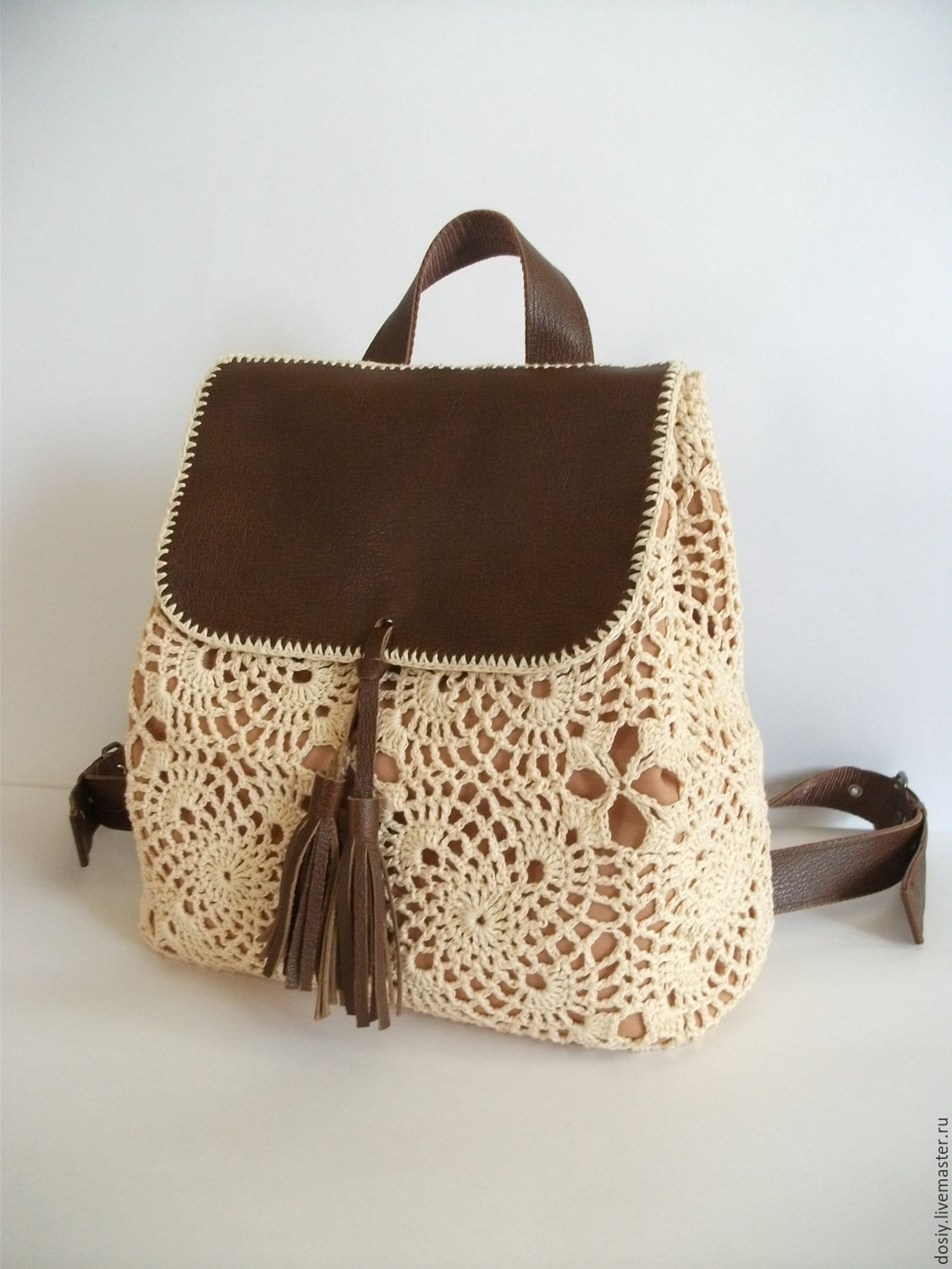 crochet backpack Romantic – shop online on Livemaster with