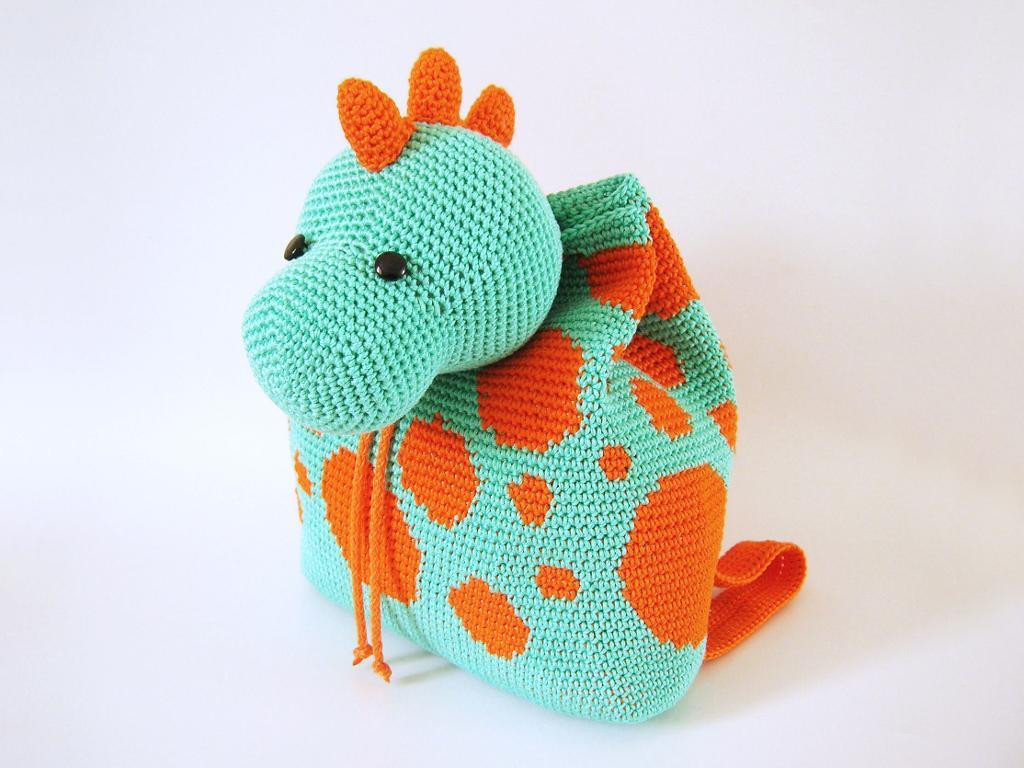 Crochet Backpack Pattern Elegant Crochet Pattern for Dino Backpack by Maisabel2 Craftsy Of Perfect 44 Pictures Crochet Backpack Pattern
