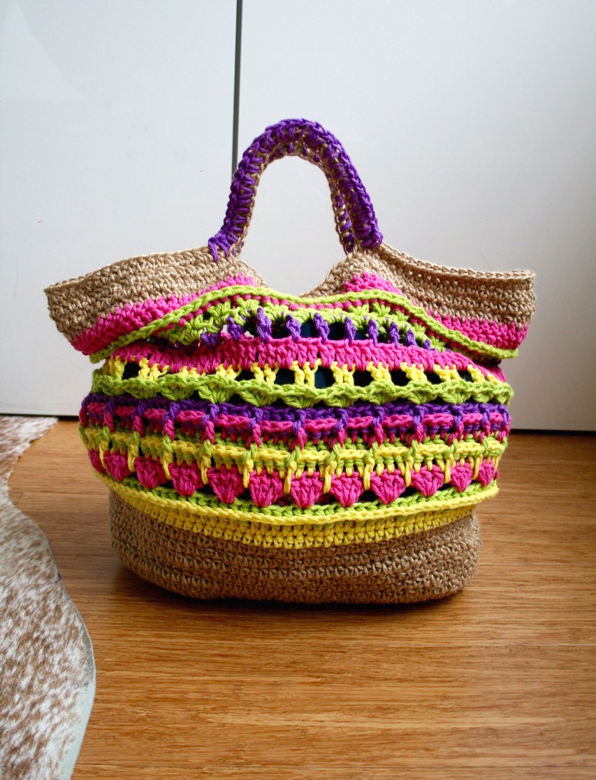 Crochet pattern market shopper bag pattern granny crochet