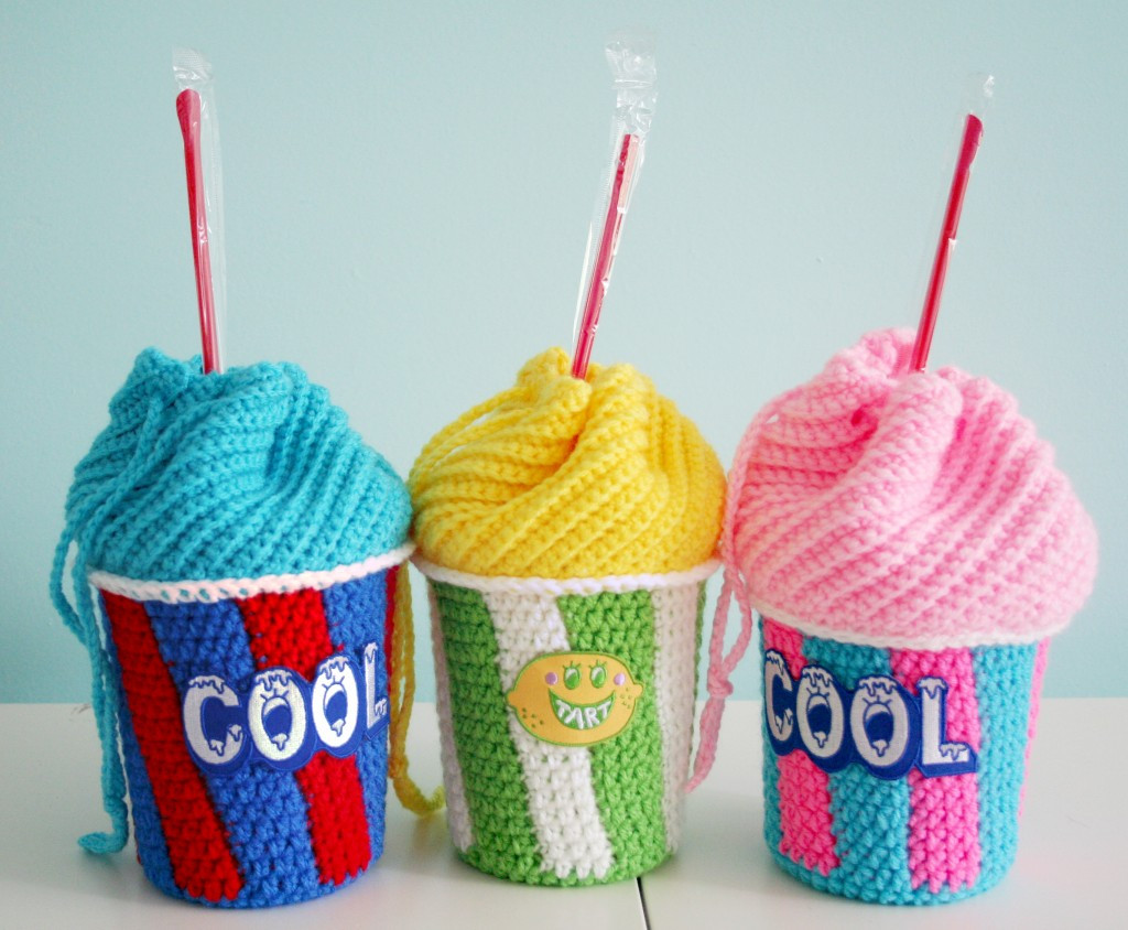 Crochet Bag Awesome Free Crochet Pattern Slushee Cup Drawstring Bag Of Innovative 49 Models Crochet Bag