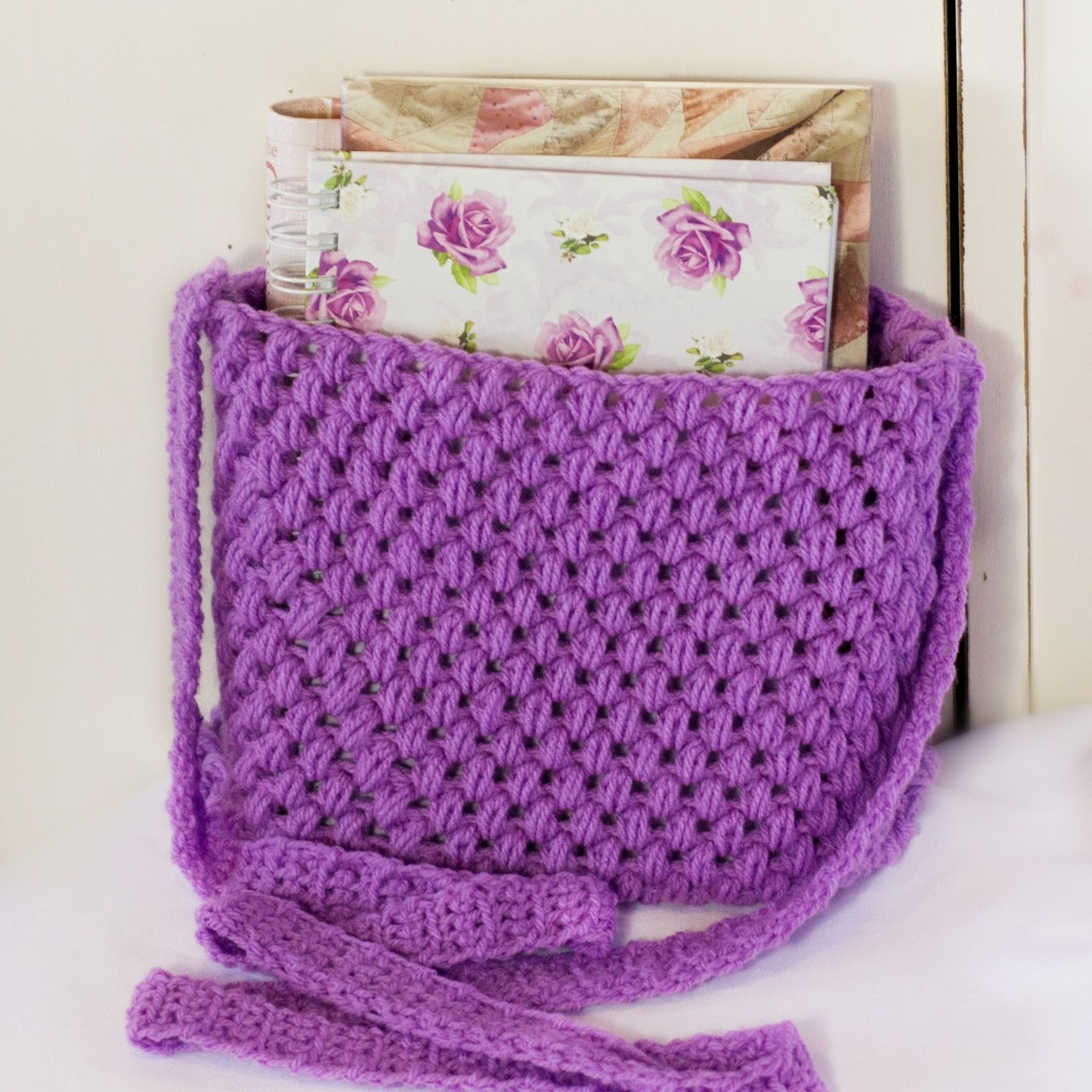 Tote Bag Pattern Easy Crochet Messenger Bag Pattern