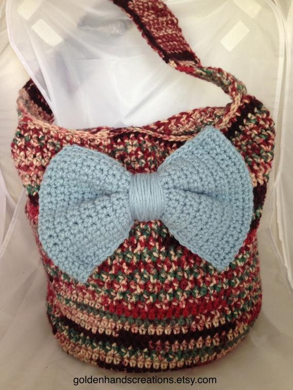 Crochet Bag Pattern for Beginners Luxury Items Similar to Crochet Multi Colored Slouch Hobo Of Awesome 45 Photos Crochet Bag Pattern for Beginners