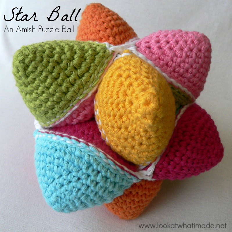 Crochet Balls Awesome Star Ball A Crochet Amish Puzzle Ball Pattern ⋆ Look at Of Adorable 40 Images Crochet Balls