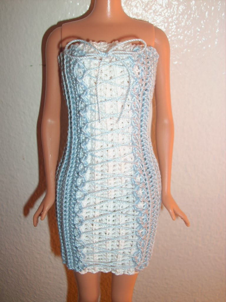 Crochet Barbie Dress Awesome Crochet for Barbie the Belly button Body Type Blue Lace Of Amazing 46 Pictures Crochet Barbie Dress
