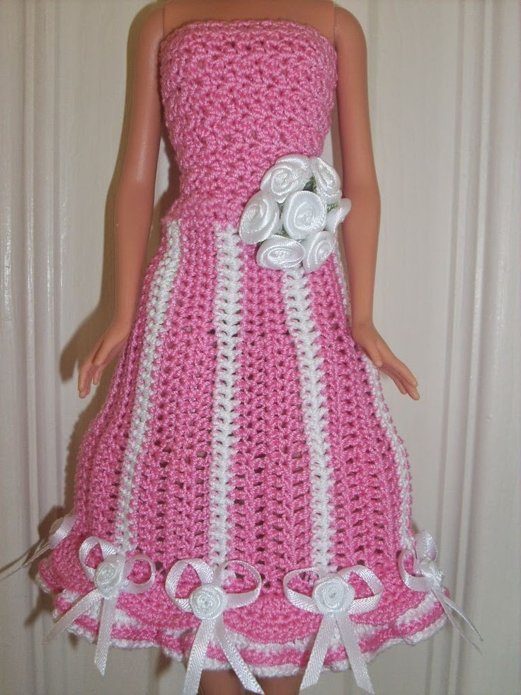 Crochet Barbie Dress Fresh 1000 Images About Crochet for Barbie On Pinterest Of Amazing 46 Pictures Crochet Barbie Dress