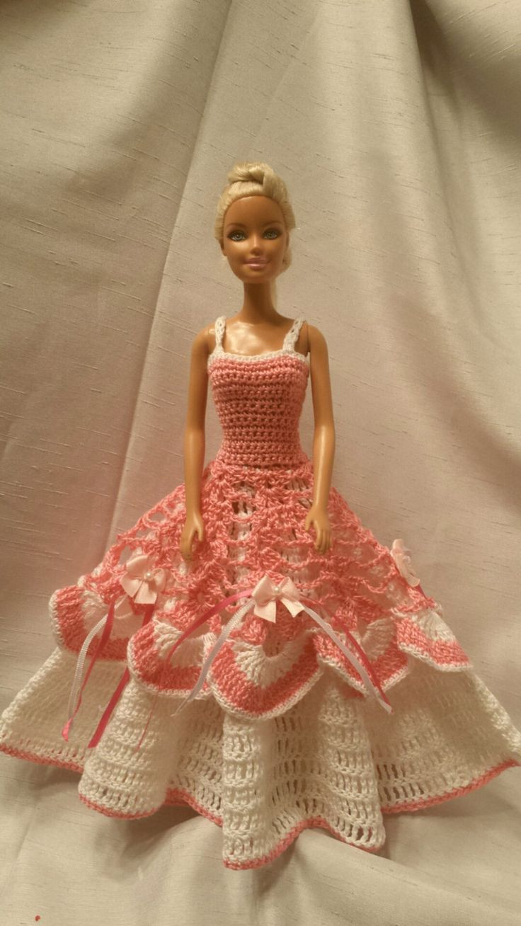 Crochet Barbie Dress Lovely 1136 Best Images About Barbie Doll Crochet Knitting On Of Amazing 46 Pictures Crochet Barbie Dress