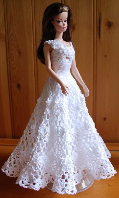 Crochet Barbie Dress New Best 25 Barbie Crochet Gown Ideas On Pinterest Of Amazing 46 Pictures Crochet Barbie Dress