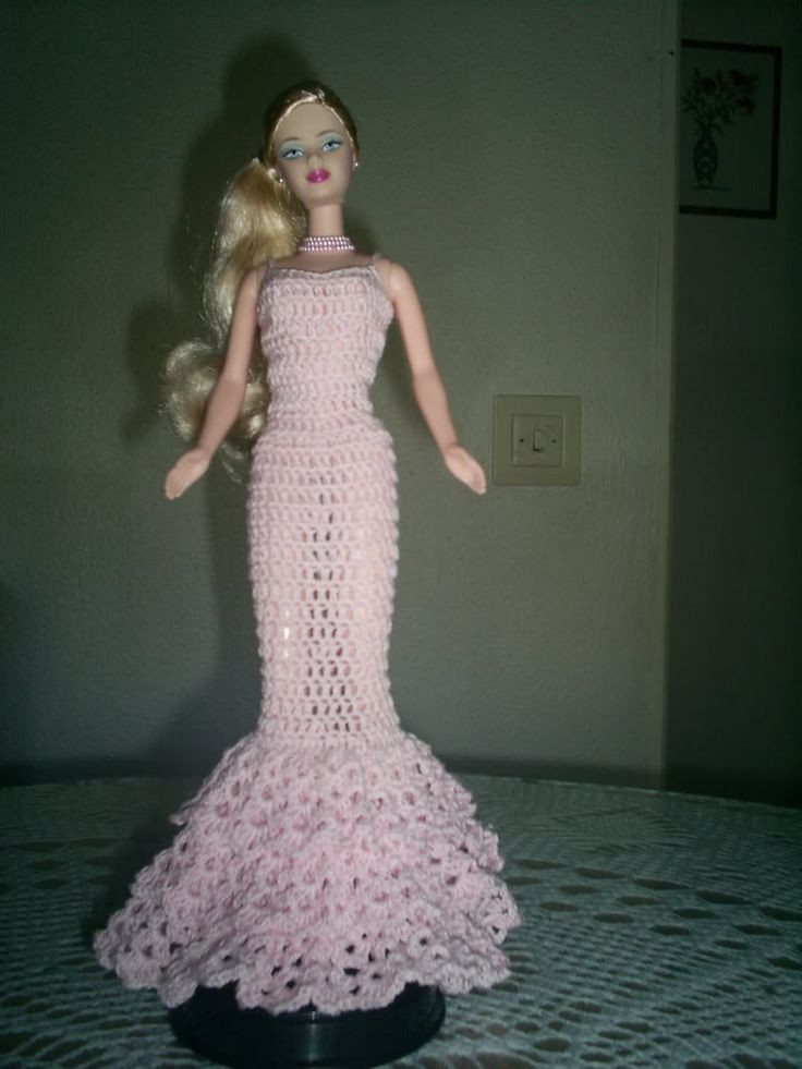 Crochet Barbie Dress Unique 772 Best Barbie Dolls Patterns & Ideas Images On Pinterest Of Amazing 46 Pictures Crochet Barbie Dress