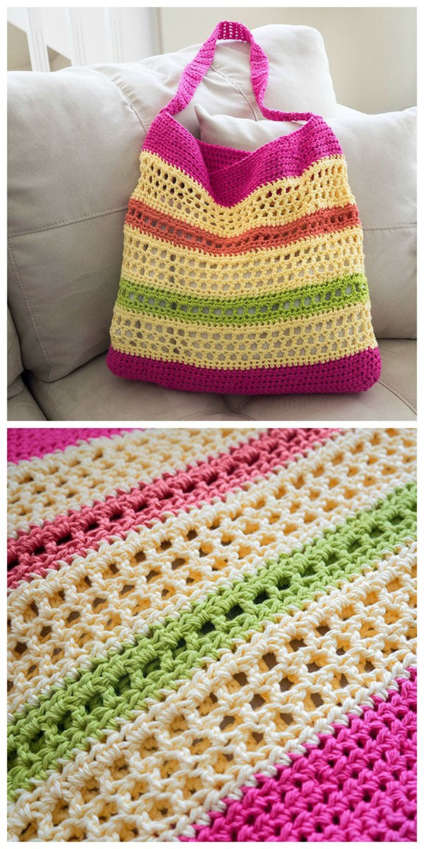 Crochet Beach Bag Elegant [free Pattern] Always Look Your Best at the Beach with Of Delightful 40 Photos Crochet Beach Bag