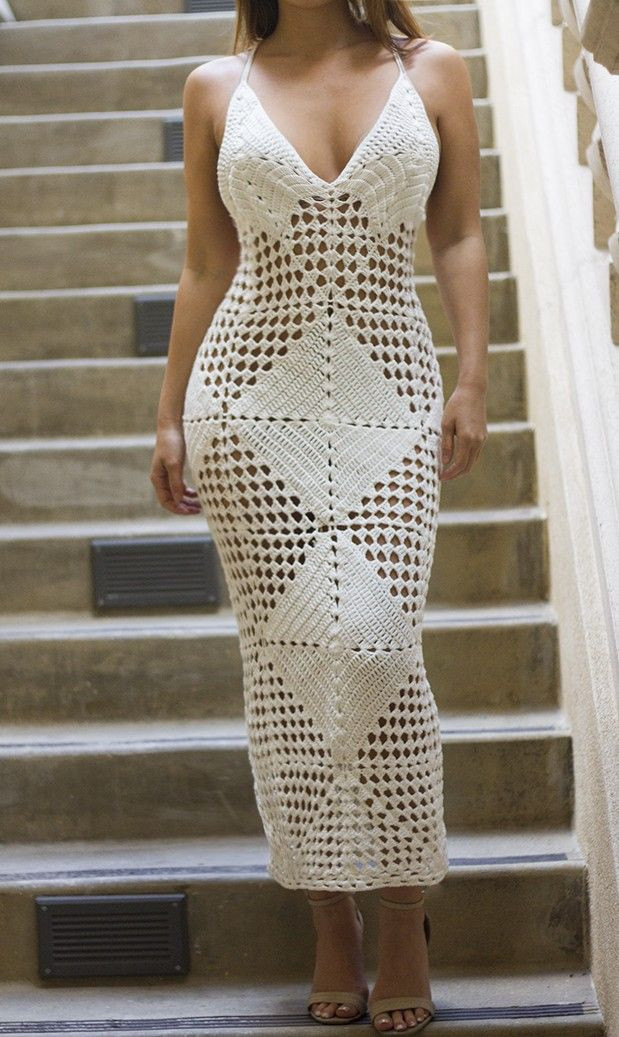 LIMITED EDITION White Crochet Coverup Dress Dresses