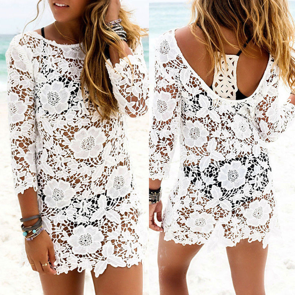 Crochet Beach Cover Up New La S White Y Lace Crochet Swimwear Cover Up Summer Of Lovely 41 Ideas Crochet Beach Cover Up