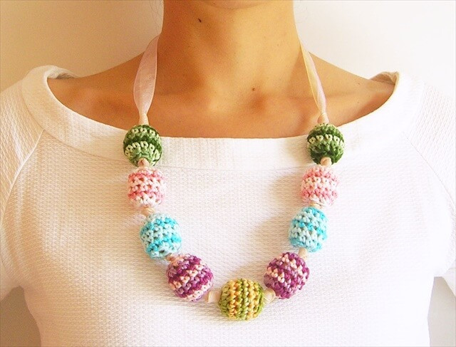 Crochet Beaded Necklace Awesome 16 Simple Crochet Necklace Ideas Of Contemporary 43 Images Crochet Beaded Necklace