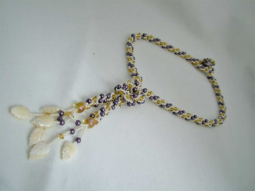 Crochet Beaded Necklace Awesome Beaded Crochet Y Necklace with Mop ・clearlyhelena Of Contemporary 43 Images Crochet Beaded Necklace