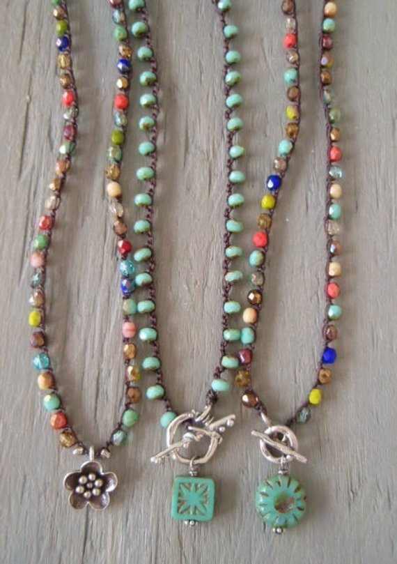 Crochet Beaded Necklace Beautiful Colorful Fall Crochet Necklace Fall Festival Thai Of Contemporary 43 Images Crochet Beaded Necklace