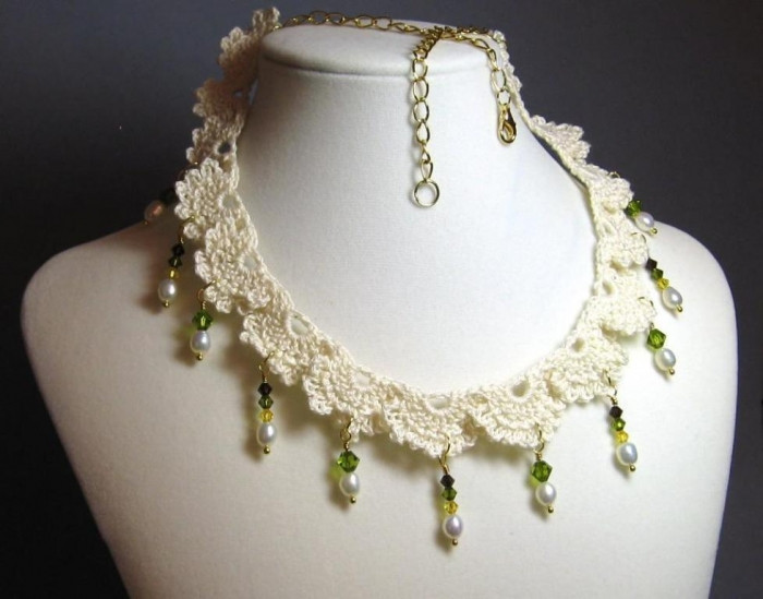 Crochet Beaded Necklace Beautiful top 10 Handmade Crochet Necklaces Of Contemporary 43 Images Crochet Beaded Necklace