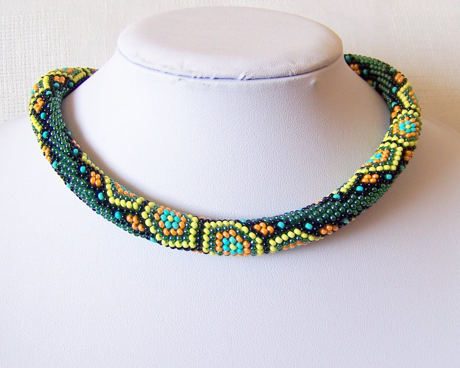 Crochet Beaded Necklace Best Of Bead Crochet Necklace with Geometric Pattern Beaded Rope Of Contemporary 43 Images Crochet Beaded Necklace