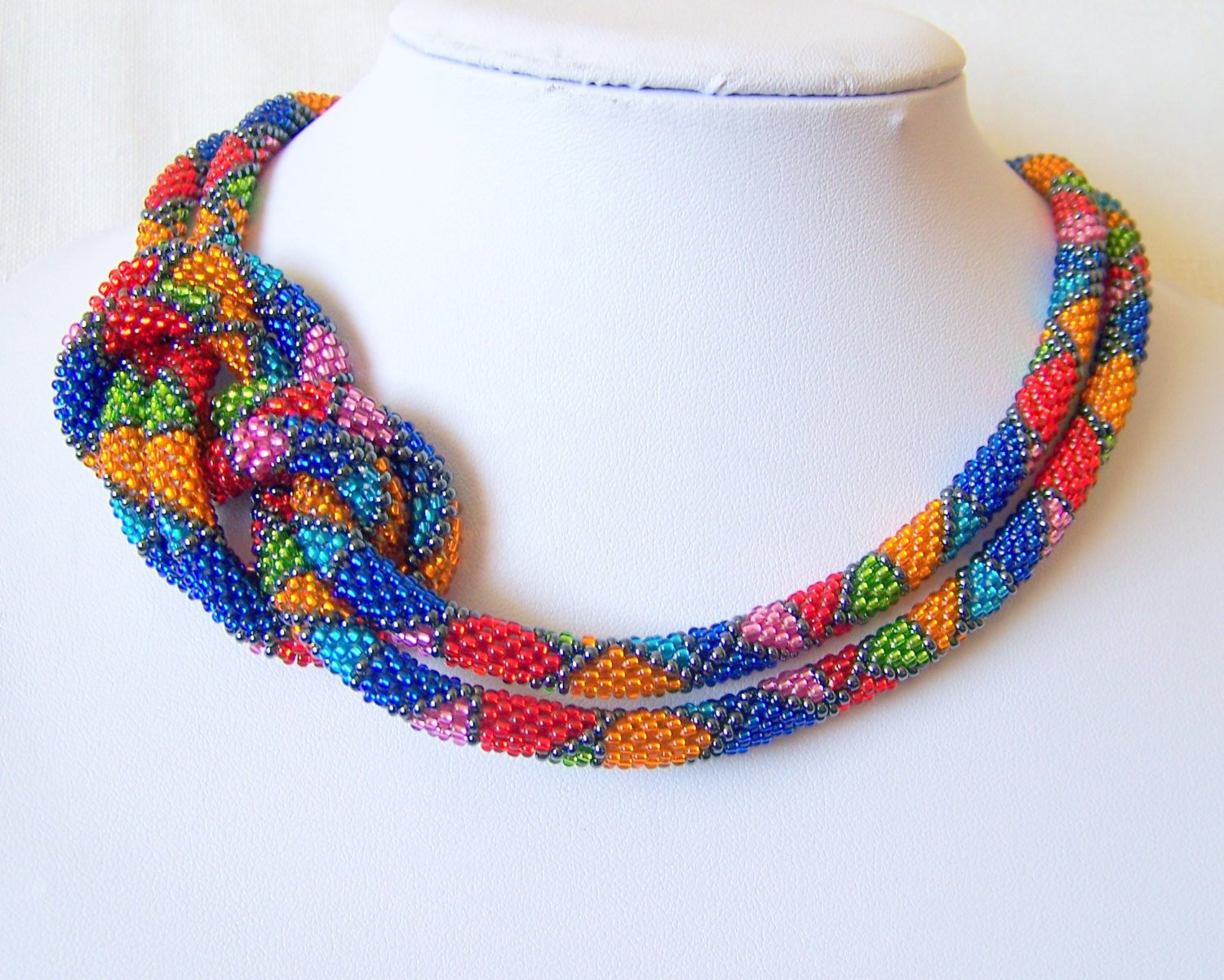 Crochet Beaded Necklace Fresh Long Beaded Crochet Rope Necklace Beadwork Seed Beads by Of Contemporary 43 Images Crochet Beaded Necklace