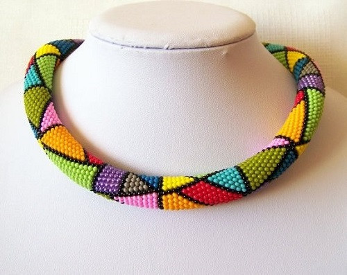 Crochet Beaded Necklace Unique Colorful Bead Crochet Jewelry by Lutita the Beading Gem Of Contemporary 43 Images Crochet Beaded Necklace