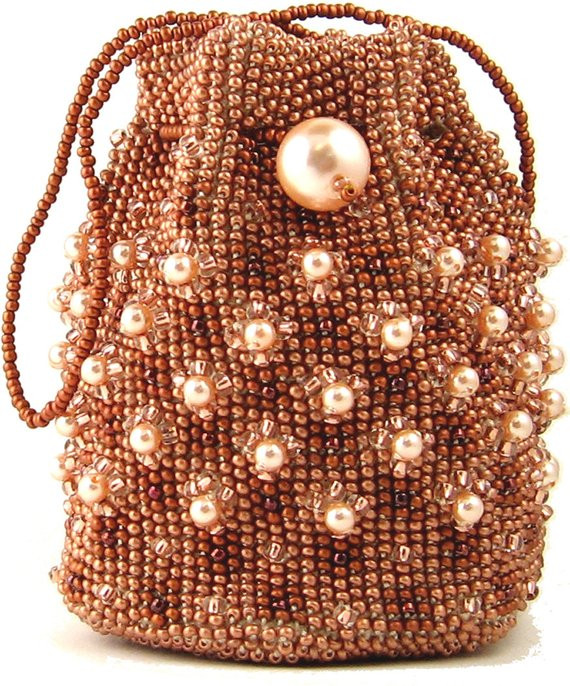 Crochet Beads Awesome Copper Bead Crochet Bag Instant Download Pattern by Ann Benson Of Awesome 41 Ideas Crochet Beads