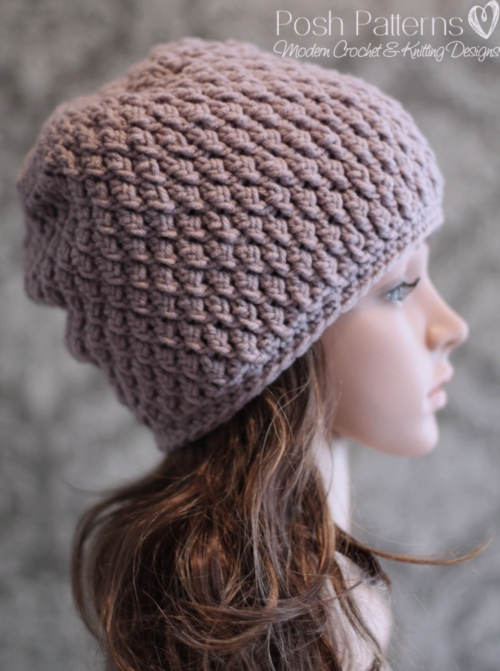Crochet Beanie Beautiful Slouchy Hat Crochet Pattern Faux Cable Beanie Of Amazing 44 Images Crochet Beanie