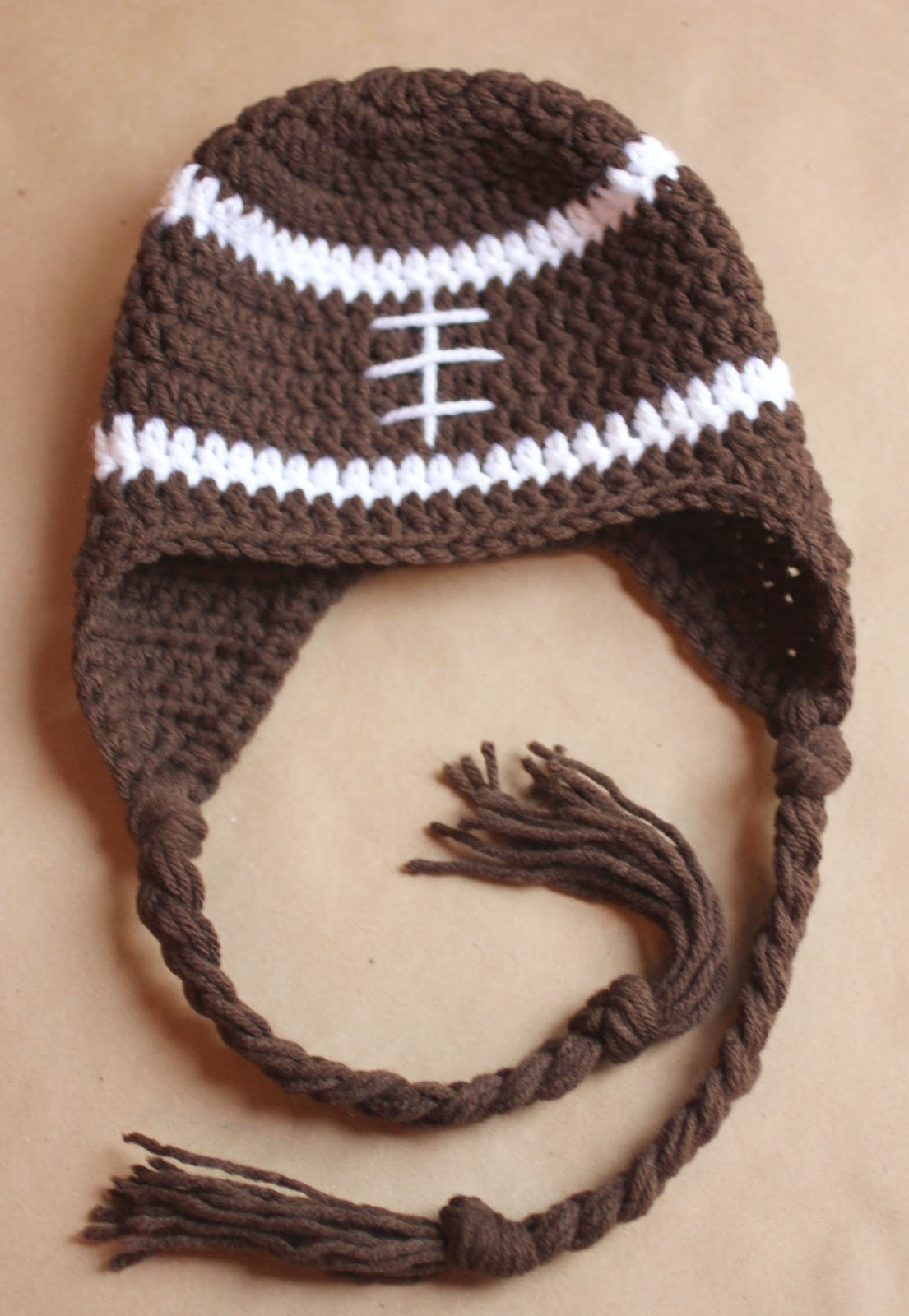 Crochet Beanie Inspirational Crochet Football Earflap Hat Pattern Repeat Crafter Me Of Amazing 44 Images Crochet Beanie