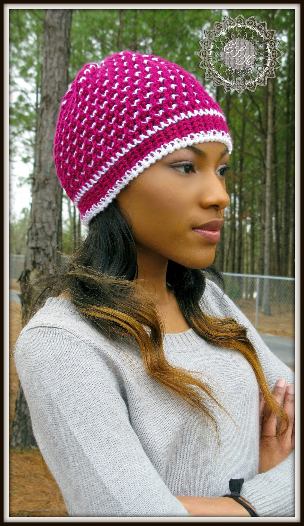 Morning Frost A Free Crochet Hat Pattern ELK Studio