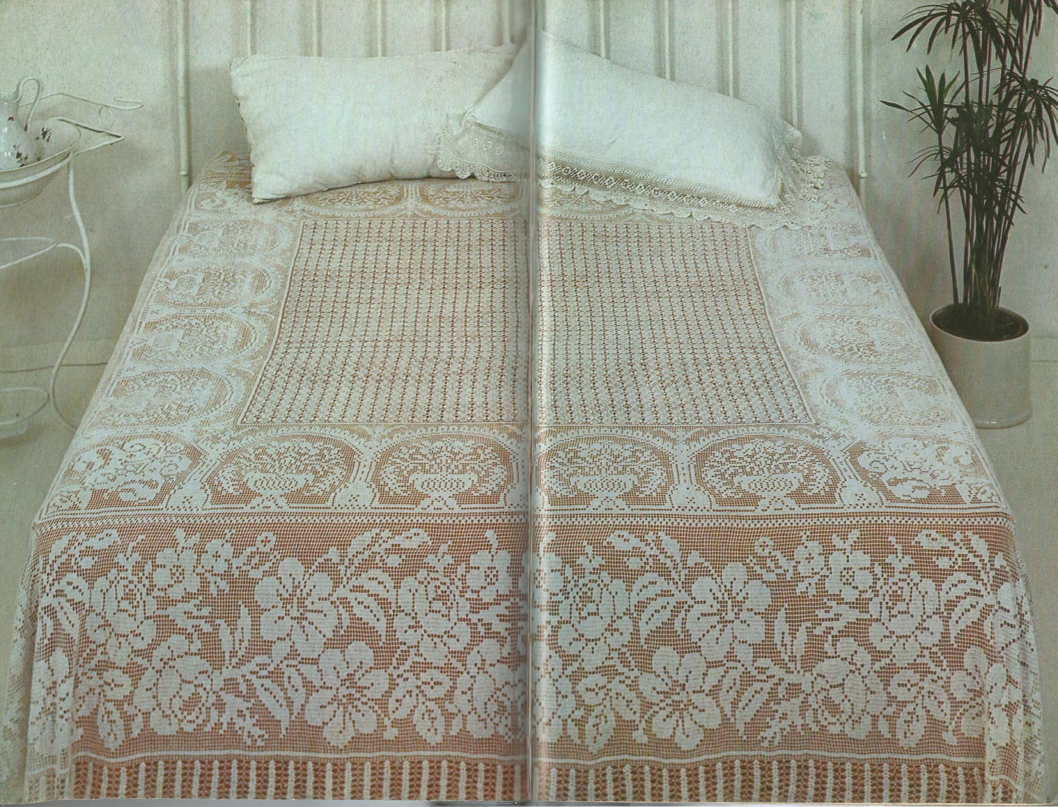 Crochet Bedspread Inspirational Vintage Double Bedspread In Filet Crochet Pdf Pattern Of Unique 38 Pics Crochet Bedspread